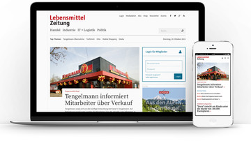 Image of the new Lebensmittel Zeitung Page
